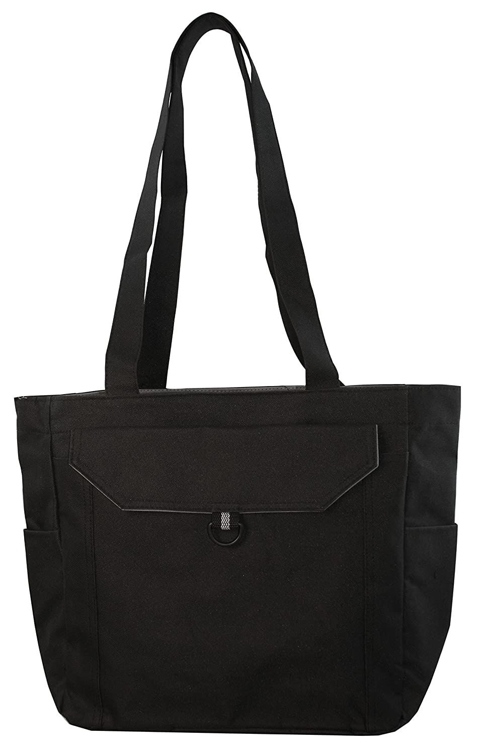 Deluxe Zippered Tote Bag with Long Shoulder Straps: Handbags ...