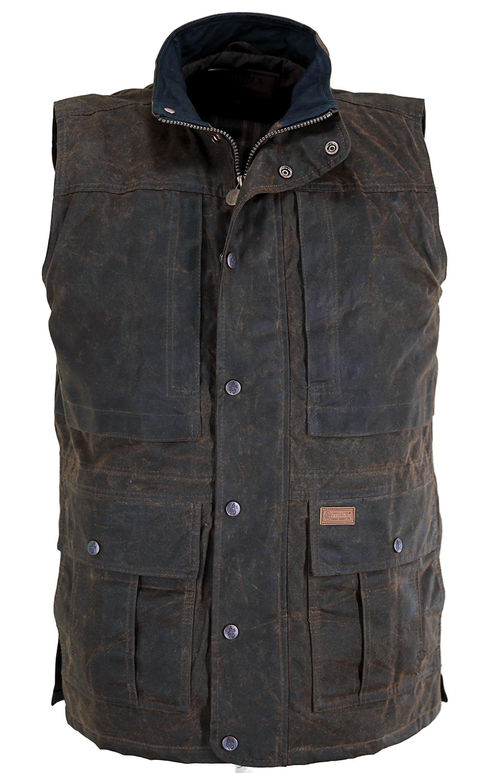 Outback Trading Company Deer Hunter Oilskin Vest, Bronze, 2XL