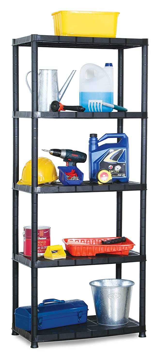 Amazon.com: Shelves 5 Tier 15 inch Shelf Plastic Shelving Unit ...