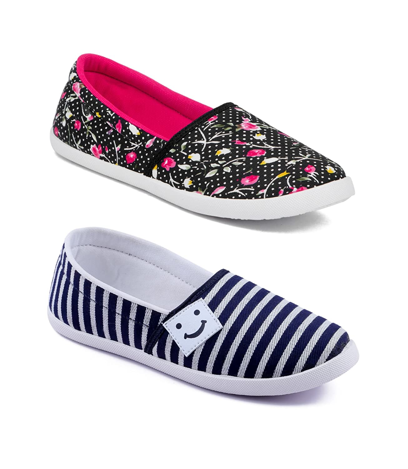 Multicolor Slip On Mesh Casual Shoes