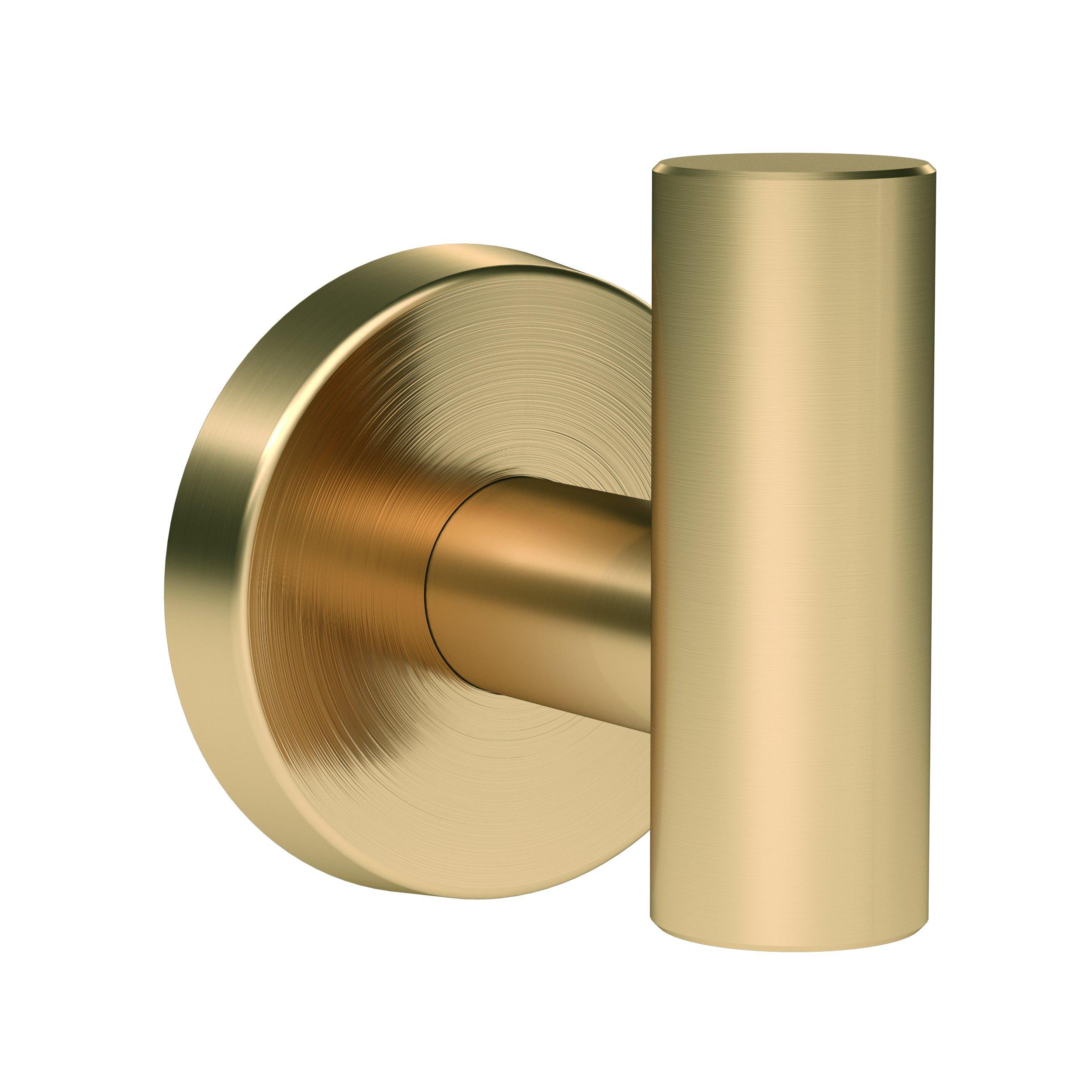 Amerock BH26542BBZ Arrondi Single Robe Hook in Brushed Bronze/Golden Champagne