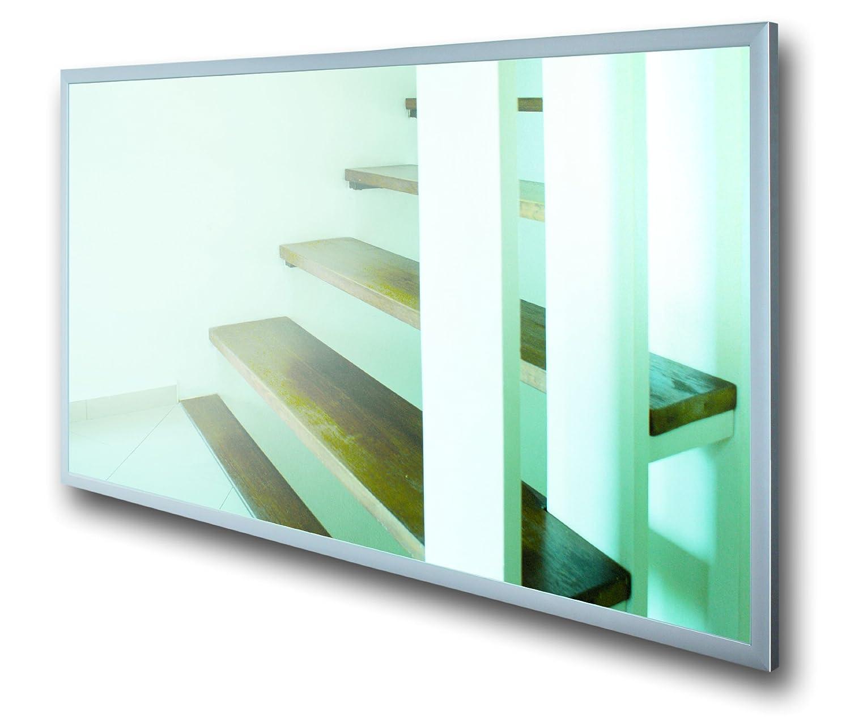 FENIX - Calefacción por infrarrojos, diseño de espejo con marcos de aluminio (600 W)