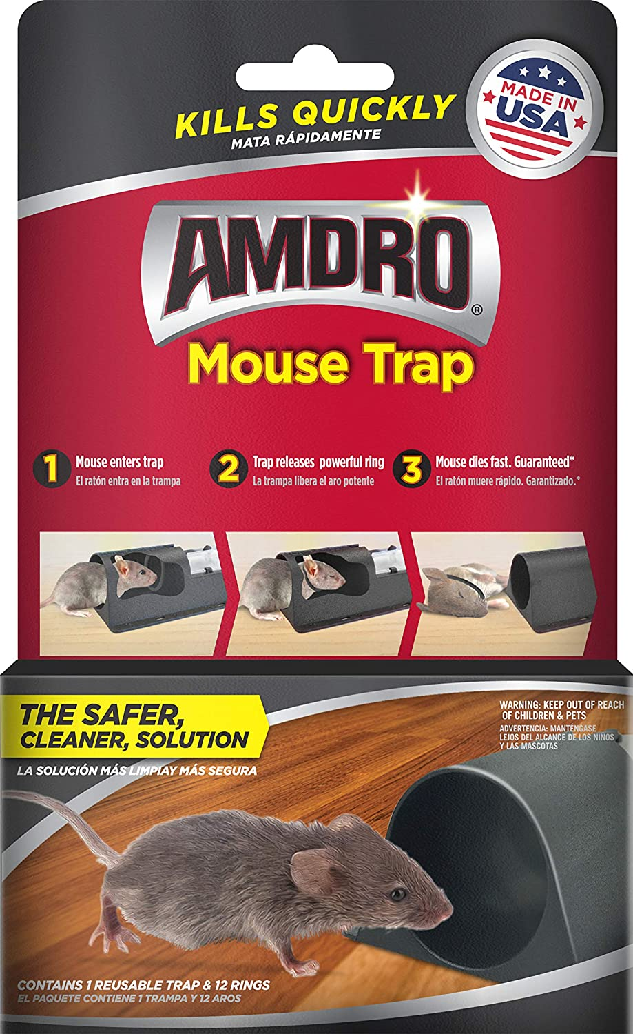10x Powerful Spring Mouse Pests Traps Snap Catch Traps Outdoor Gardening Tools