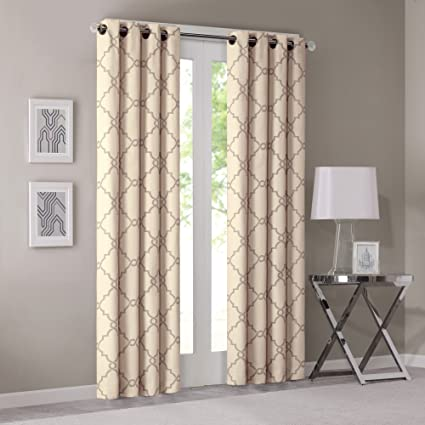 Yellow Curtains For Living Room, Modern Contemporary Window Curtains For  Bedroom, Saratoga Print Fabric