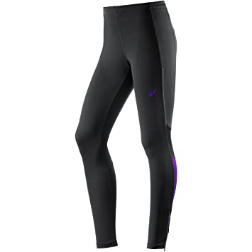 25590615e9fbce ASICS Adrenaline Womens Long Running Tights - Black-S: Amazon.co.uk ...