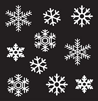 Amazoncom Wall Window Glass Christmas Holiday Sticker Vinyl - Snowflake window stickers amazon