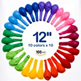 Best Balloons Assorted Color For Party 12 Inches Bulk 100 pcs Helium Quality Latex