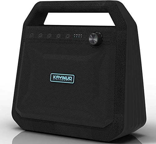 KAYINUO Bluetooth Speakers, Portable Indoor Outdoor 24W Wireless Stereo Speaker Party Speaker with TWS, Aux in, Micro SD Card and 6000mAh Mobile Power Bank-Black 2020 Upgrade