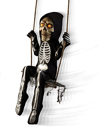 Amazon.com: Spirit Halloween 3 Ft Swinging Skeleton Boy ...