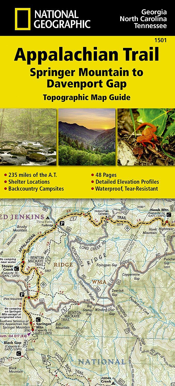 Amazon Com Appalachian Trail Springer Mountain To Davenport Gap Georgia North Carolina Tennessee National Geographic Trails Ilrated Map