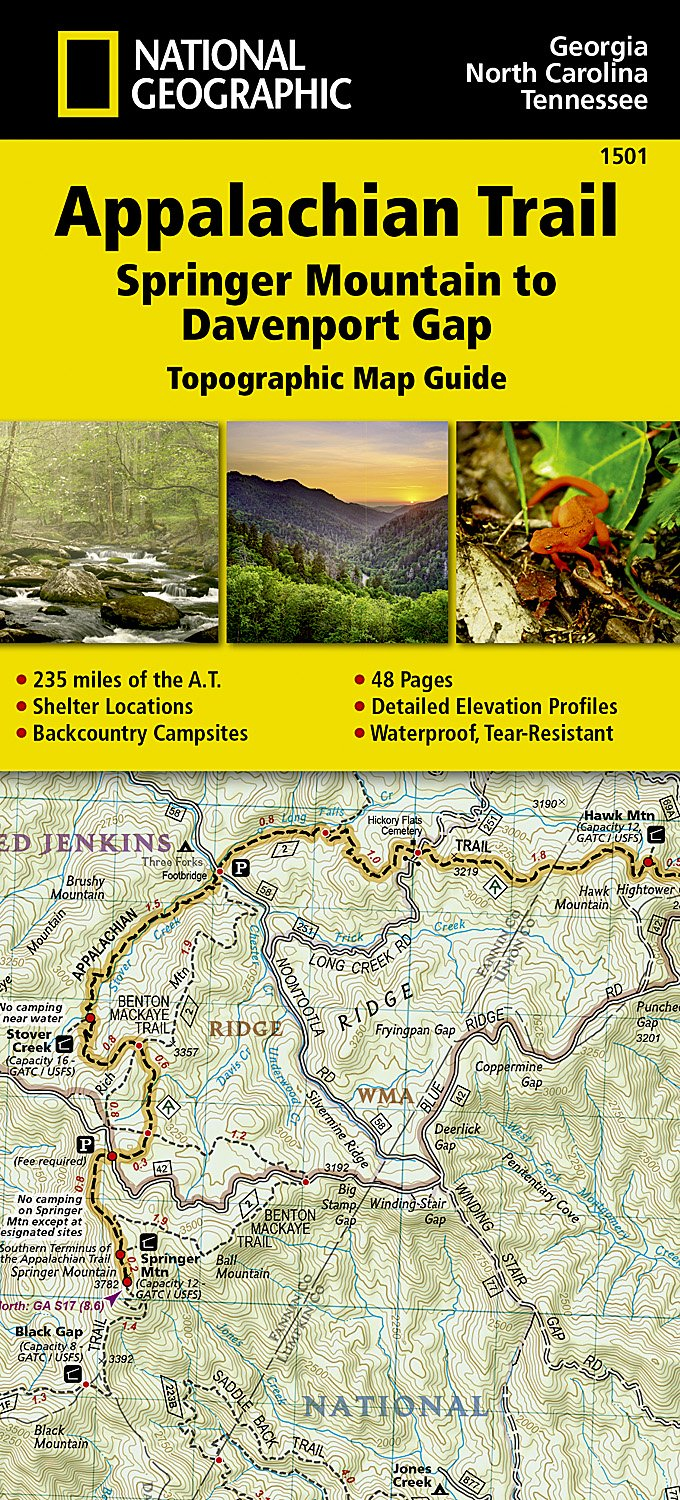 Appalachian Trail, Springer Mountain to Davenport Gap [Georgia ...