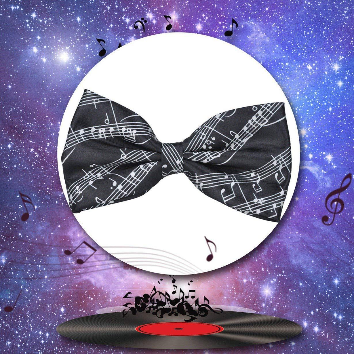 Comomingo Papillon Classico da Uomo Pre-Cravatta Note Musicali Papillon Stile da Annodare 6 Colori Regalo di Compleanno Occasioni Divertenti Formali