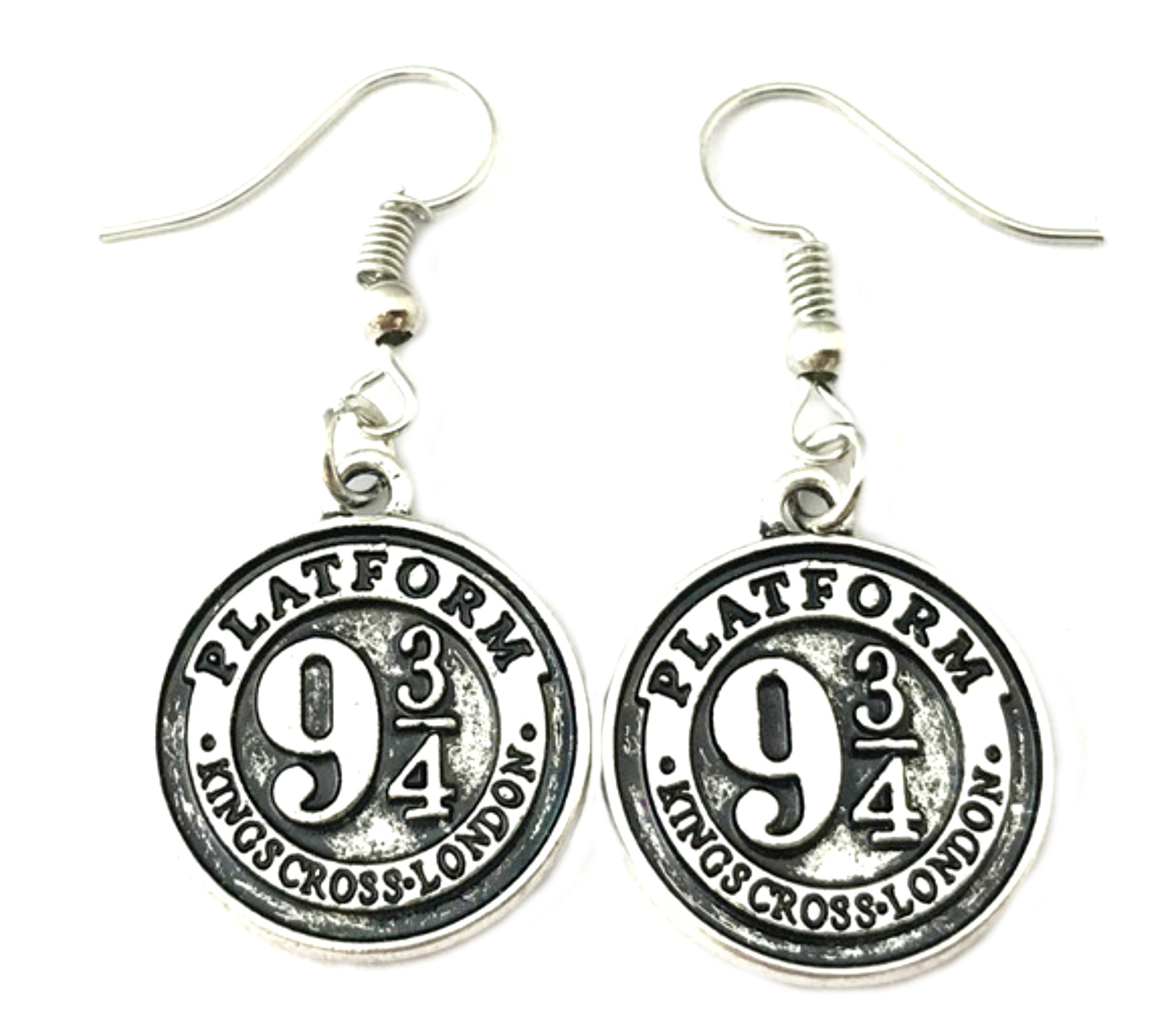 Harry Potter Premium Quality Silvertone Dangle Earrings Golden Snitch Gryffindor Slytherin Ravenclaw Hufflepuff Crest