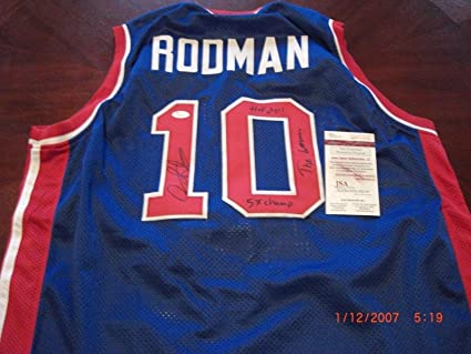 Image Unavailable. Image not available for. Color  Dennis Rodman Signed  Jersey ... 85e806bb0