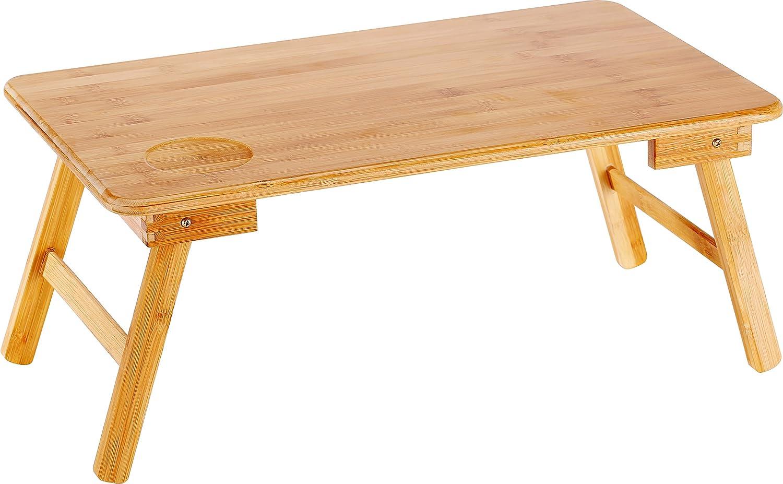 EVST Portable Bamboo Foldable Laptop Desk Notebook Table (55cm*35cm*24cm) 0710382578492