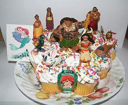 12 Pieces Cupcake Topper Cake Picks MOANA