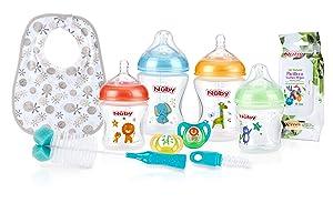 Nuby Natural Touch Bottle Feeding Starter Set