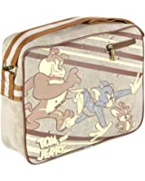 RETRO STYLE TOM AND JERRY CLASSIC SATCHEL MESSENGER BAG