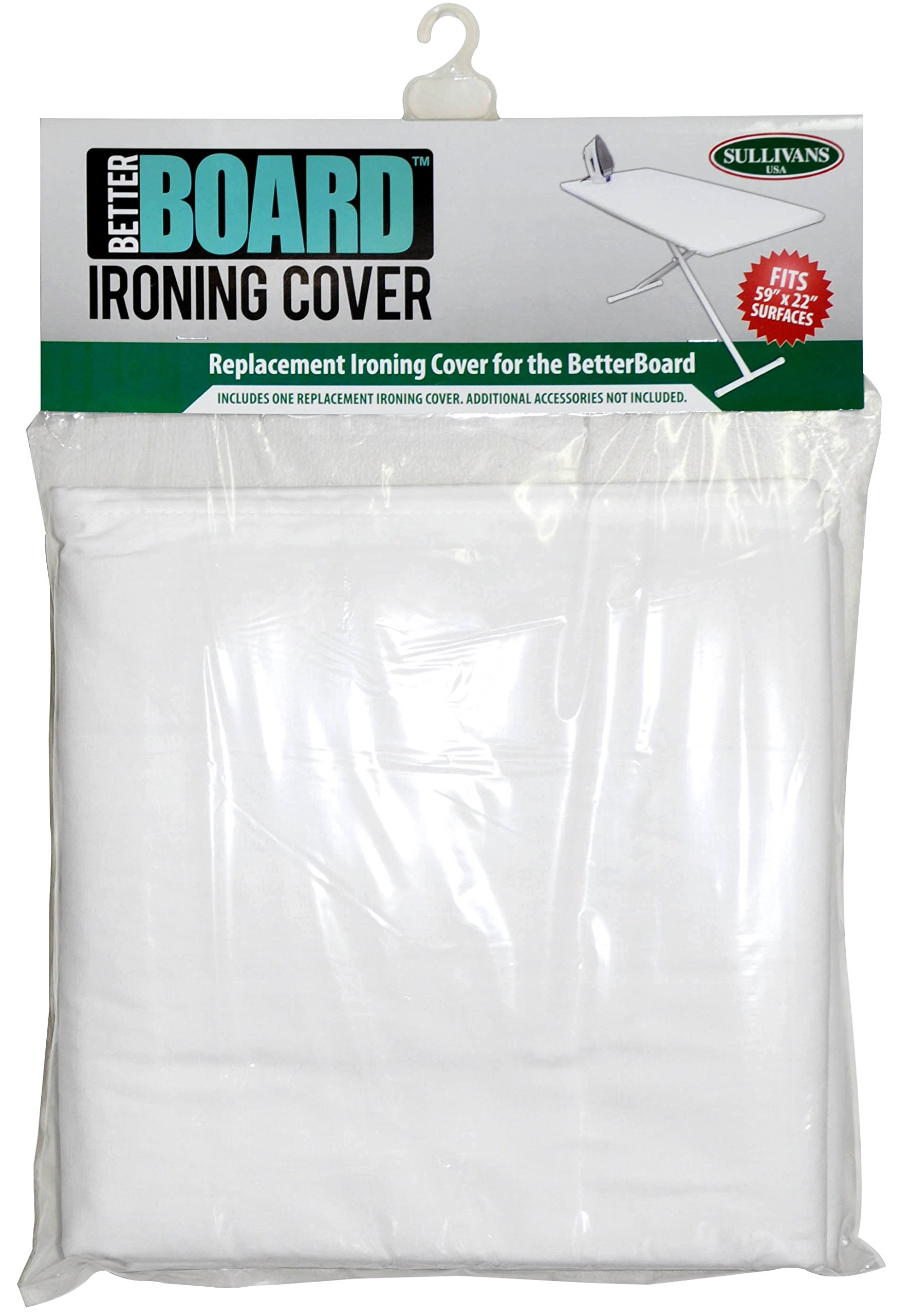 Sullivans 59'' x 22'' Better Board Replacement Ironing Cover, 100% Cotton, White
