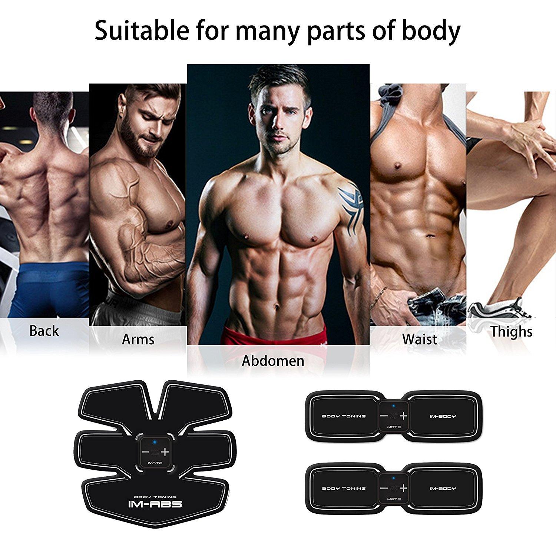 Electrostimulateur, Appareil de Musculation Abdominaux Bras Cuisses Ceinture  abdo Appareil de Fitness pour Hommes Femmes --Charge USB ( Fitness Appareil  ... 6fea5a068fd