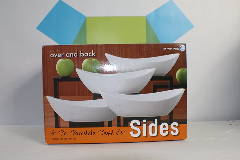 Amazon.com: Over and Back - Sides: 4 pc. Porcelain Bowl Set: Kitchen ...