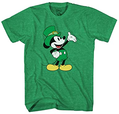 593d3d83d Amazon.com: Disney Mickey Mouse Wave St. Patrick's Day Men's Adult Graphic  Tee T-Shirt: Clothing