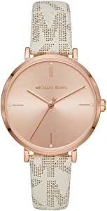 Michael Kors Women's Jayne Three-Hand Rose Gold-Tone Alloy Watch MK7128