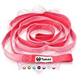 Tumaz Stretch Strap - 10 Loops & Non-Elastic Band - The Perfect Home Workout Stretching Strap for PT(Physical Therapy), Yoga,