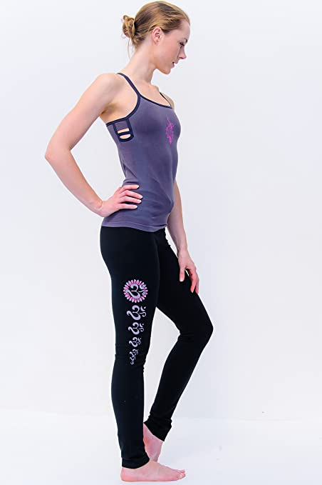 Yogamasti Yoga Asana Leggings (- Black Chakra: Amazon.es ...