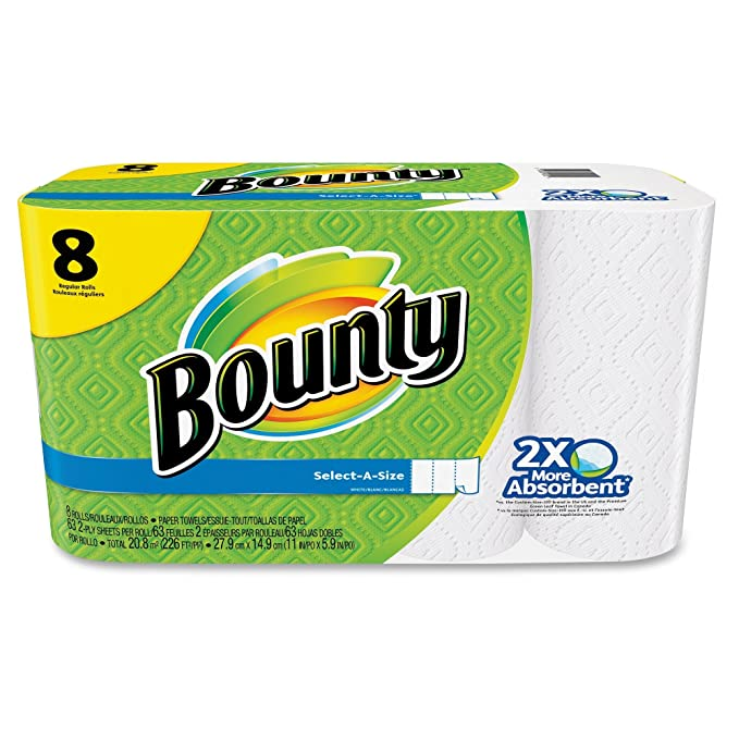 Bounty 80239709 toalla de papel blanco 1 Paquete de 8 rollos (80205218): Amazon.es: Hogar