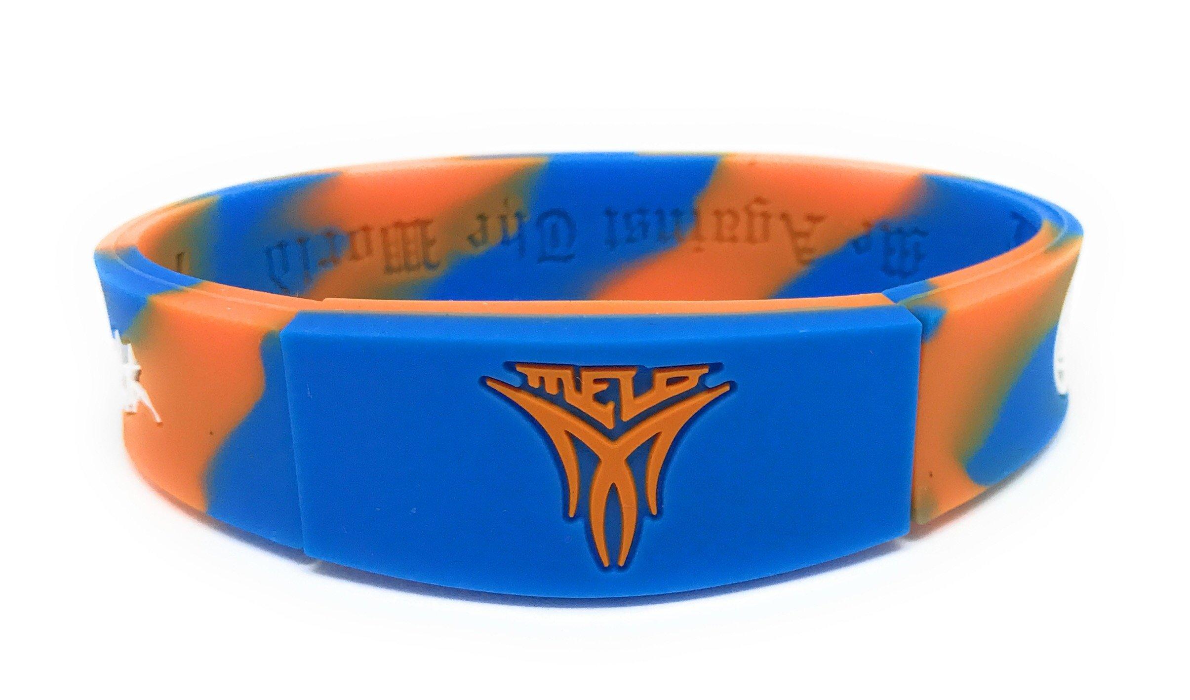 SportsBraceletsPro Reversible Wristband Adult/Teen 7.7'' Size Bracelets (Carmelo Camo)