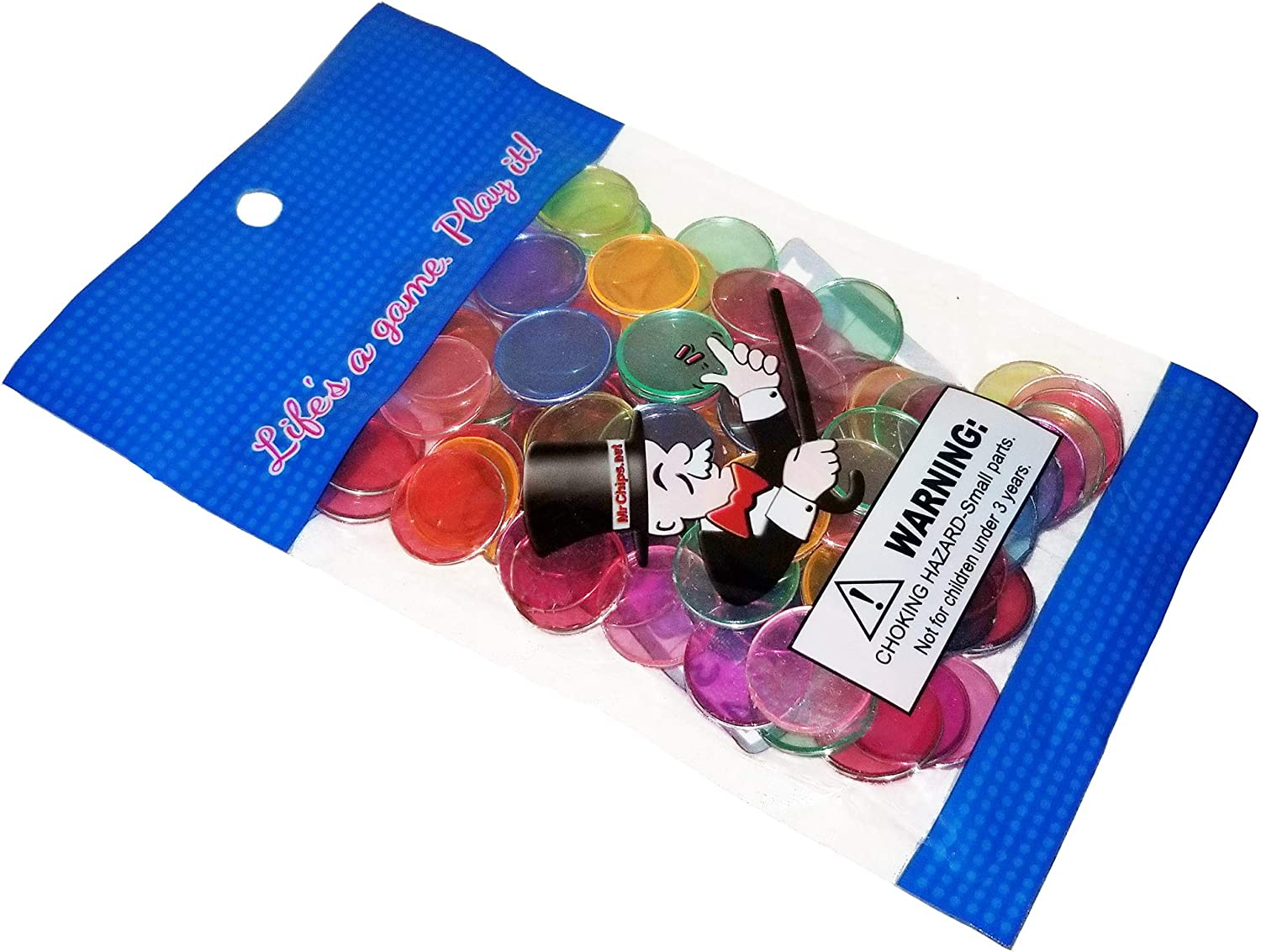 100pcs MR CHIPS Magnetic Bingo Chips Metal Edge Available in 7 Colors in A Reusable Bag 3//4