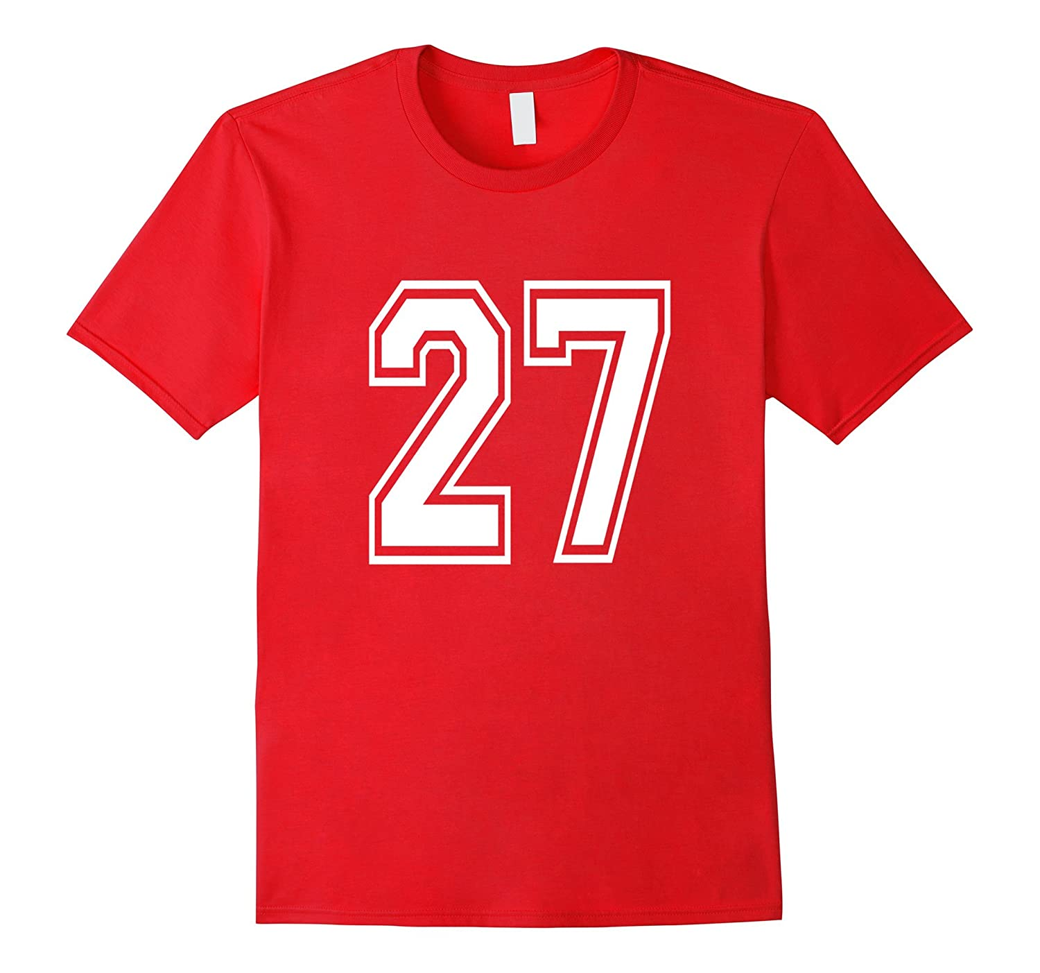 Number 27 T Shirt Age Sports Player Jersey Number-ah my shirt one ...