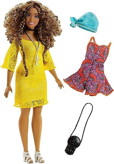 Barbie Fashionistas Bambola Bella in Paisley Vestiti Accessori Scarpe Borse