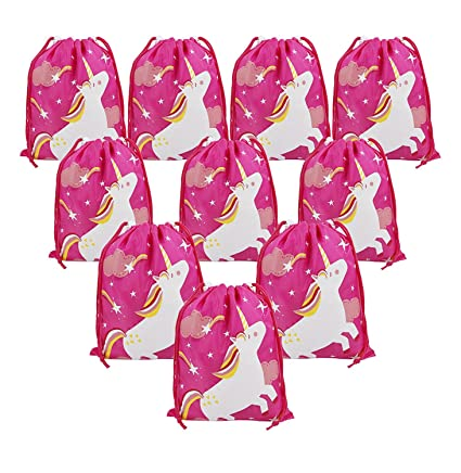 Amazon.com  Unicorn Party Bags Supplies for Girls Birthday Party ... 9f270fbf0