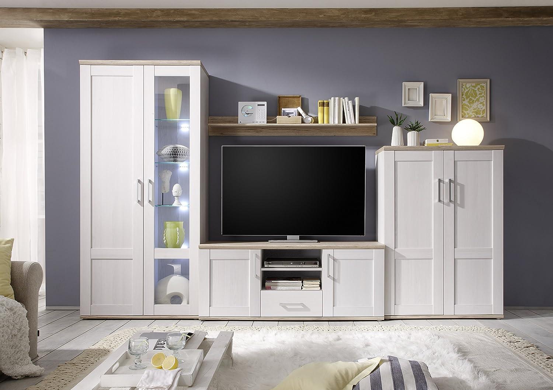 Wohnwand led beleuchtung simple wohnzimmer wohnwand artella in nussbaum pinie pinieled with - Wohnwand phantom ...