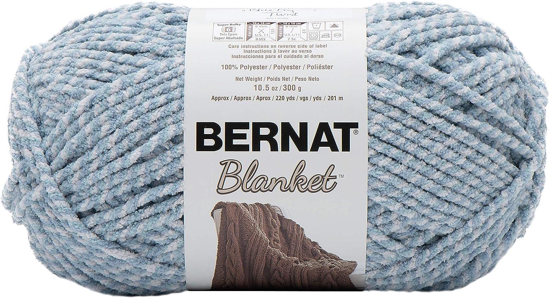 Bernat Blanket Yarn Blue Fog Twist