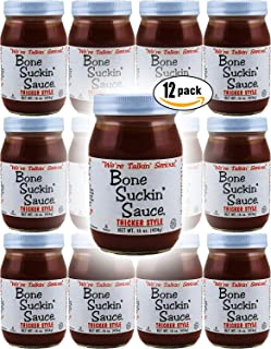 """product image for Bone Suckin' Sauce Thicker Style, """"We're Talkin' Serious"""", 16oz Glass Jar (Pack of 12, Total of 192 Oz)"""