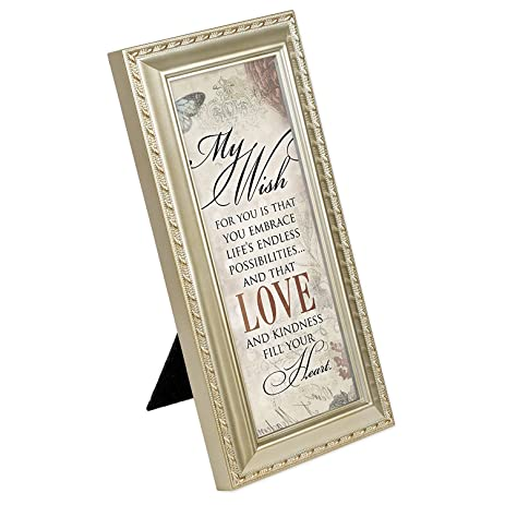 My Wish for You Love Fills Your Heart Silver Finish 4 x 10 Framed Wall Art  sc 1 st  Amazon.com & Amazon.com: My Wish for You Love Fills Your Heart Silver Finish 4 x ...
