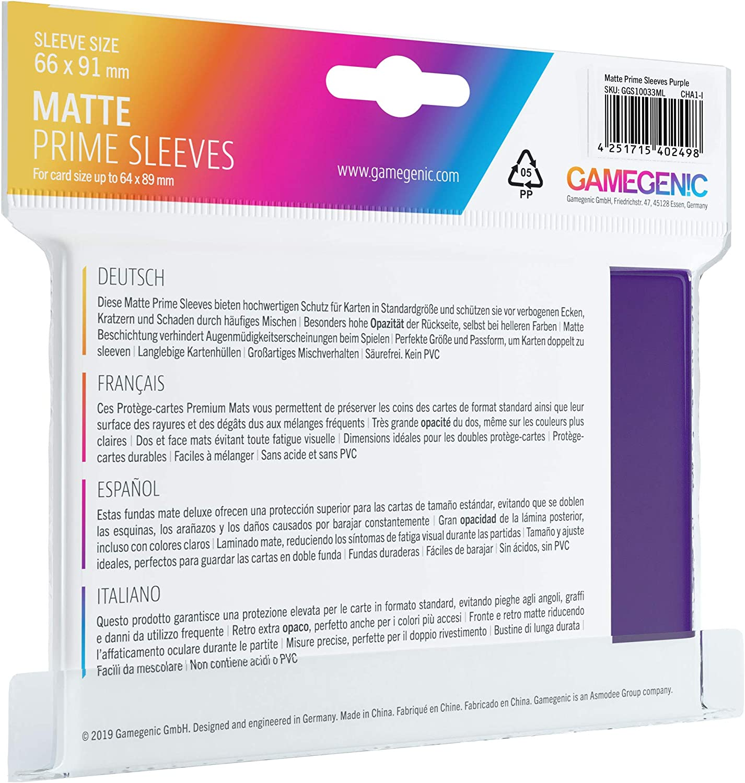 ASM GG1021 Purple GameGenic Prime Card Sleeves
