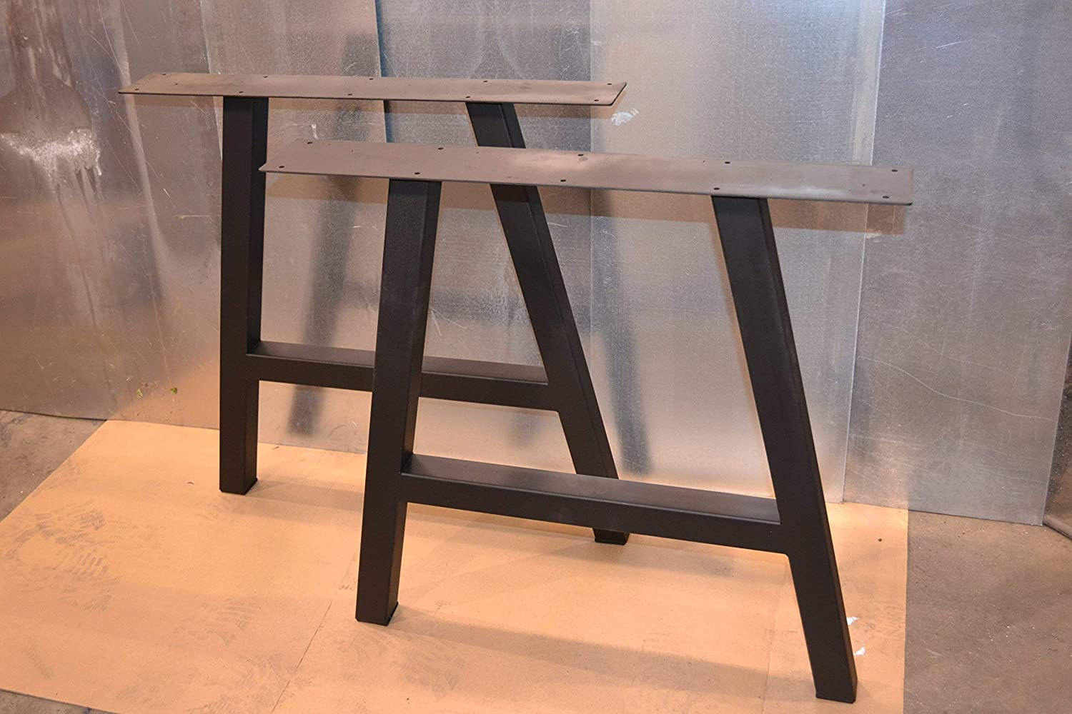 Metal Table Legs, A-Frame Style – Any Size and Color