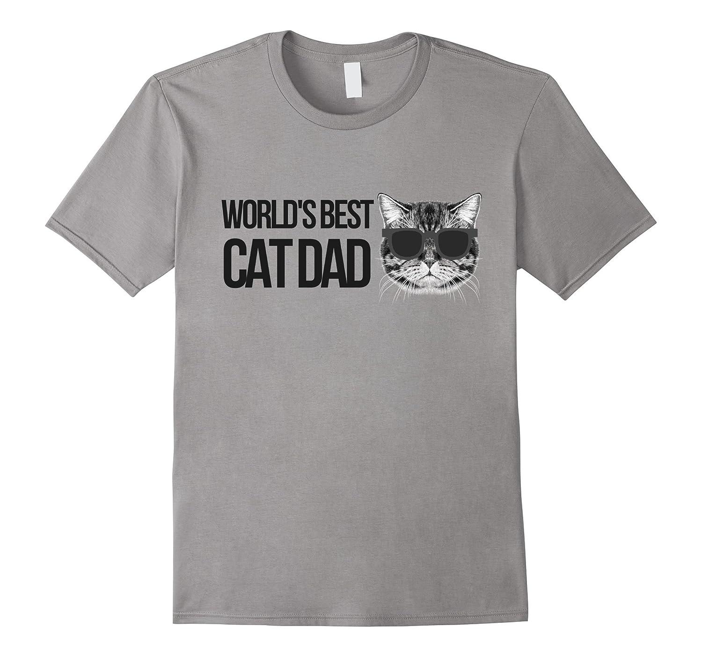 Cat Dad Tee - World's Best Cat Dad Graphic Tshirt-ANZ