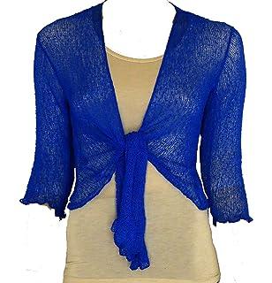c5fd91c65c73d Suit and Suit Ladies Plain Knitted Cropped TIE UP Bolero Shrug TOP -  Massive FIT