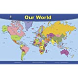 Brainymats World Map Placemat, Double Sided