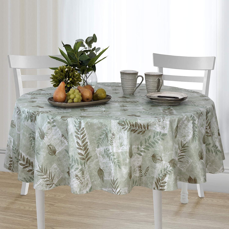 Amazon.com: Mantel de mesa de vinilo con forro de flanela ...