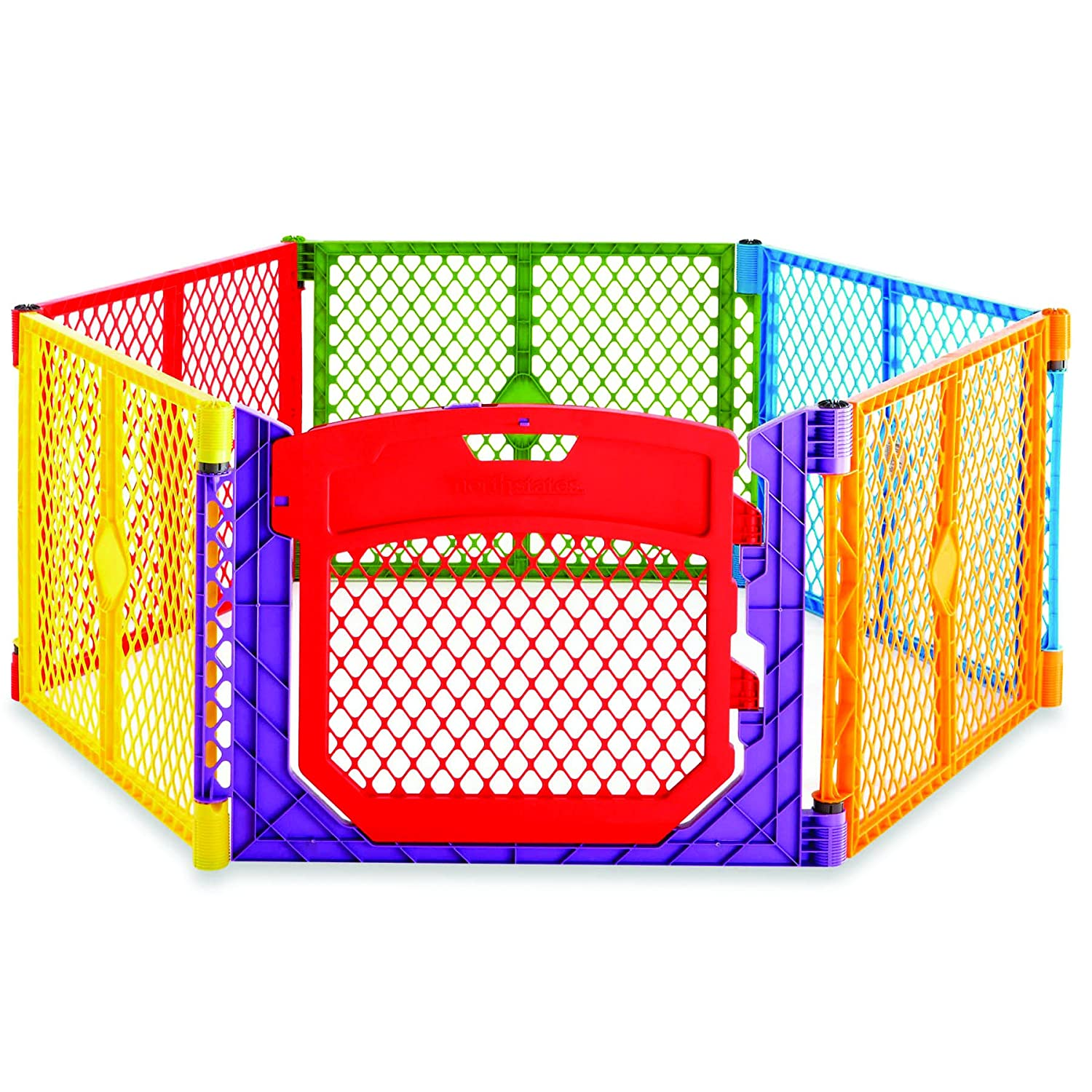 North State Super Yard Color Play Ultimate Gate, Red, Blue, Green, Yellow North States 868751