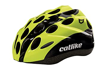 Catlike Kitten SV Casco de Ciclismo, Unisex niños, Negro (Black/Yellow Fluor