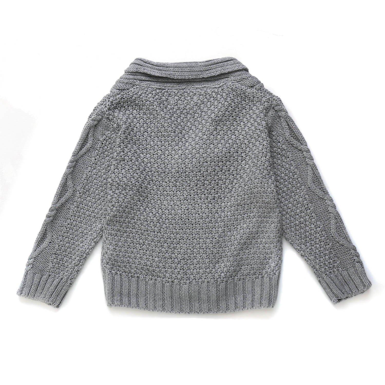 112ea5c51671 Amazon.com  DOYOMODA Baby Boys 100% Cotton Cable Knit Cardigan ...