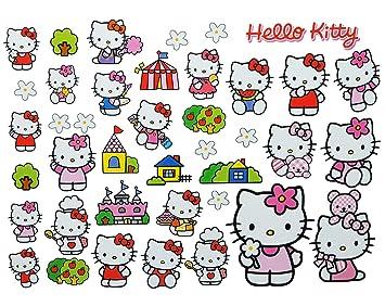 Unbekannt 40 Tlg Xl Set Fensterbilder Sticker Hello Kitty