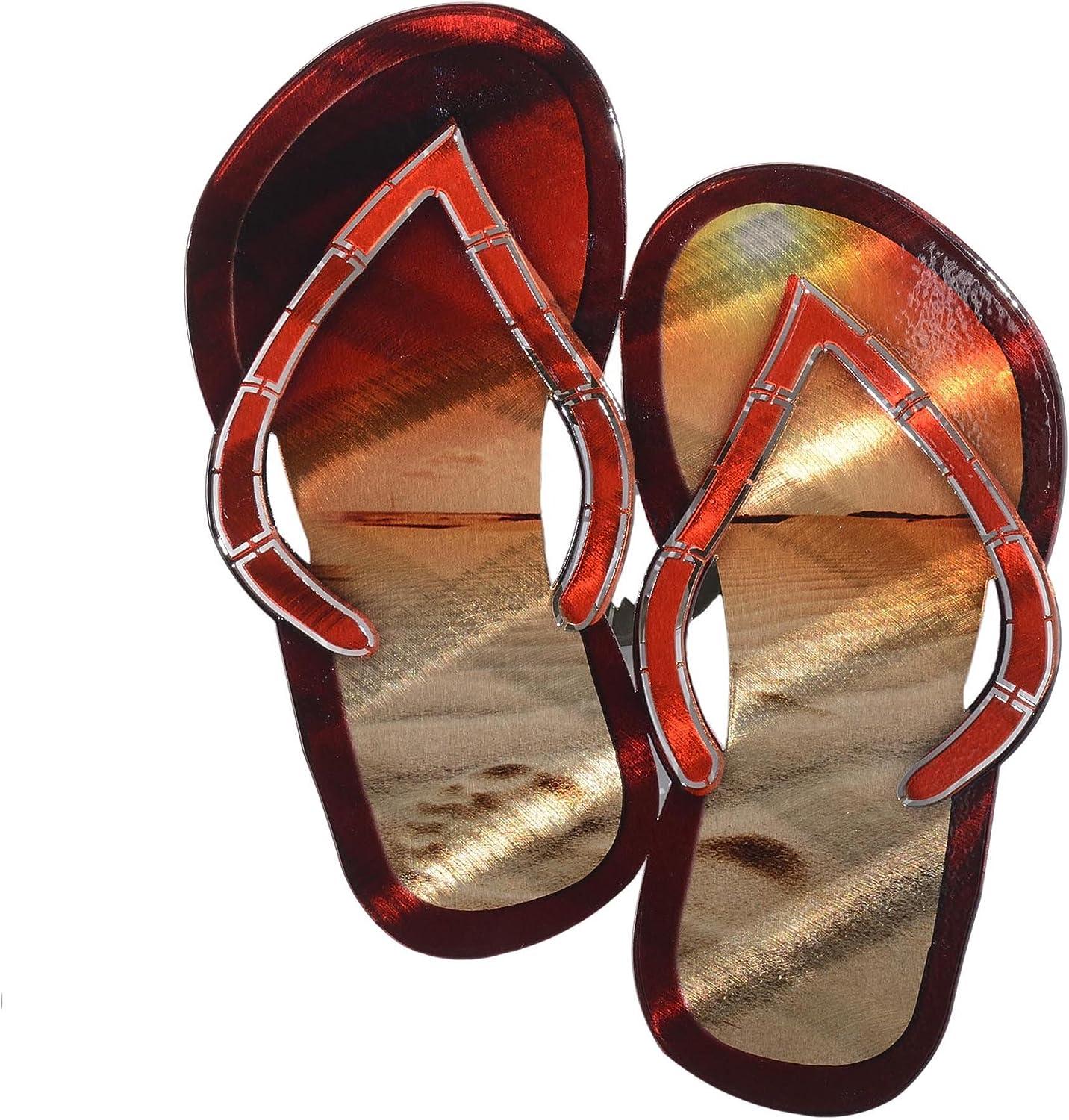 Next Innovations Metal Wall Art Beach Decor Flip Flop Sandals